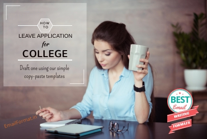 leave application for college format, leave letter format for college