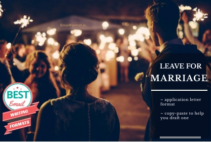 Leave Application For Marriage | Application For Leave In Marriage